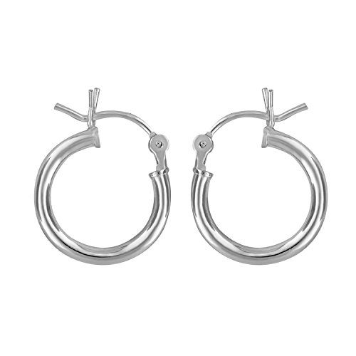 d983bba4f Includes black Pouch And Black Jewelry Box. Diameter = 12mm 7/16 Inch. 925  sterling Silver. Small high polished sterling silver hoop earring for men  or ...