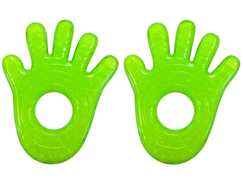 Munchkin 2 Piece Ice Heart Soothing Teether Blue Green