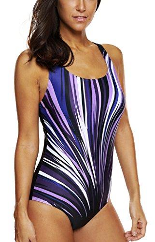 5dc294c5467cf CharmLeaks Women s Sport One Piece Swimsuit Racerback Swimwear Competition Bathing  Suits